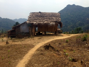 One of the 4 houses in the minority village