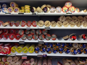 A selection of mass-produced Camembert in Carrefour