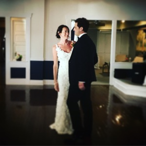 Here's one shot just before our first dance.